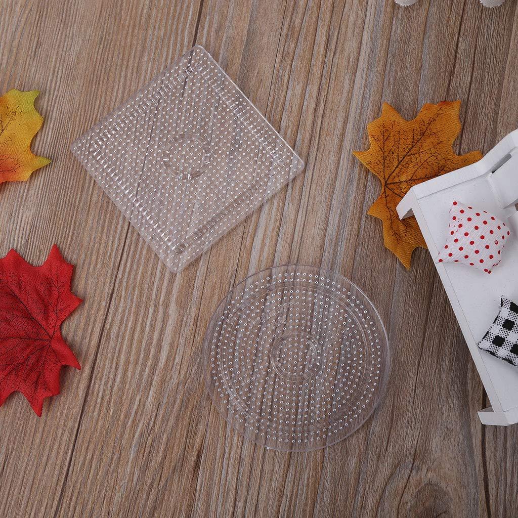 LANDUM 4Pcs DIY transparente Form Puzzle Vorlage f/ür 2,6 mm Hama Perlen Perler BeadsChristmas New Year Geschenk zuf/ällige Lieferung 1 St/ück