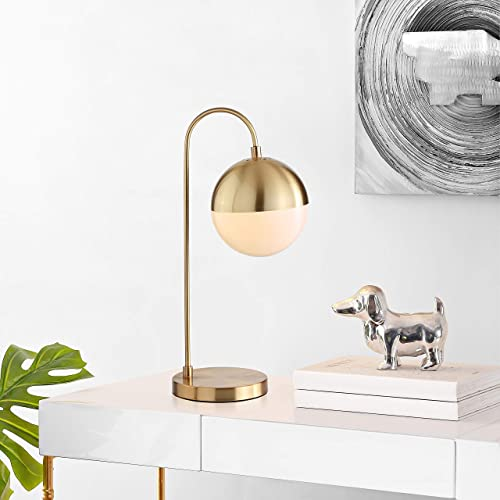 Safavieh TBL4040A Lighting Collection Cappi Brass Gold Orb 21-inch Bedroom Living Room Nightstand Desk Home Office Task Table Lamp