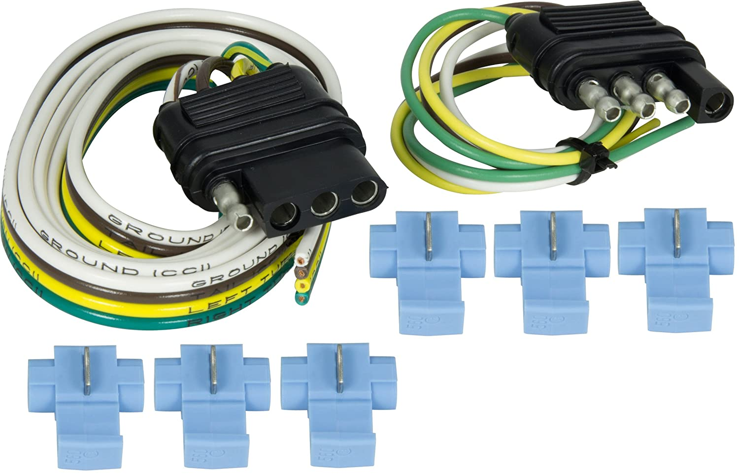Hopkins 48205 48' 4-Wire Flat Connector Set with Splice Connectors Hopkins Towing Solution