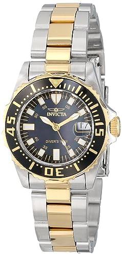 Invicta INVICTA-2960 2960 - Reloj para Mujeres, Correa de Acero Inoxidable Color Dorado: Amazon.es: Relojes