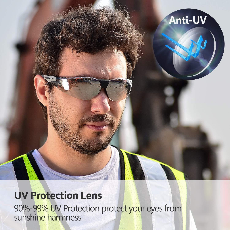 Cinta ajustable SG007 con Lentes Policarbonatos Protecci/ón contra Impacto Soldadura Laboral Graduadas Trabajo SAFEYEAR Laboratorio Gafas Protectoras de Seguridad de Obra gafas proteccion