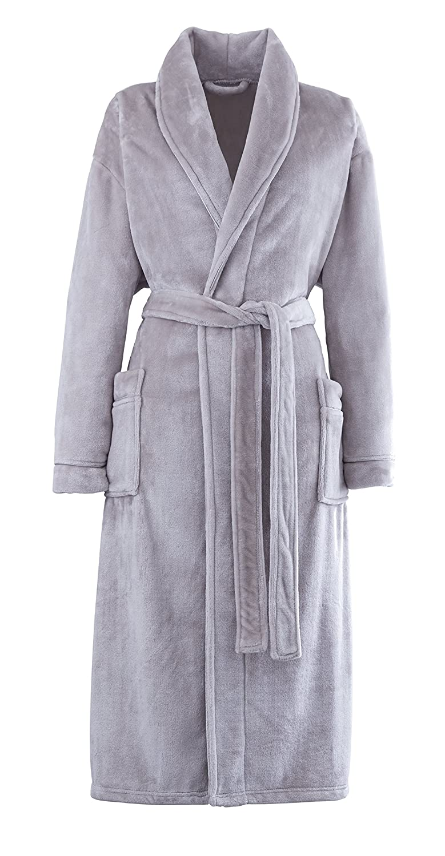 Catherine Lansfield So Soft Bath Robe Slate: Amazon.co.uk: Kitchen ...