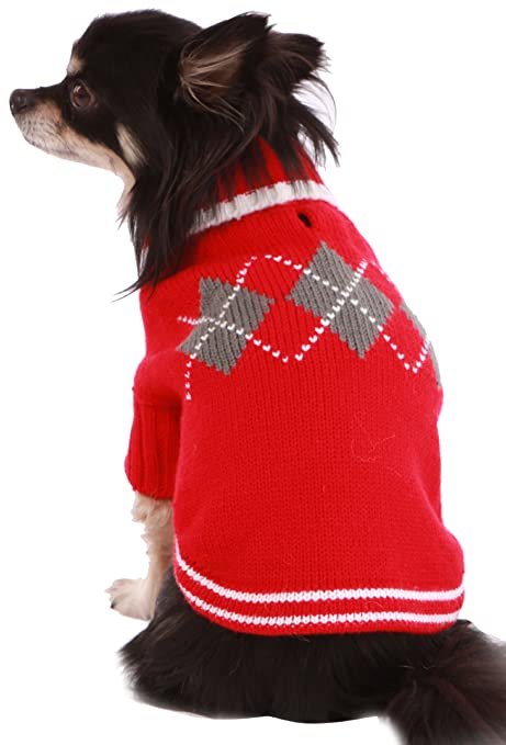 Doggy Things Jersey para perros con diseño tradicional de rombos: Amazon.es: Productos para mascotas