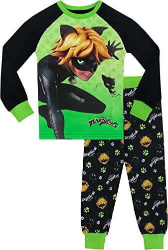 Miraculous LadyBug Cat Noir Conjunto Pijama para ni/ña 8312ES