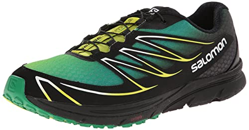 Salomon Men's Sense Mantra 3 Running Shoe, Fern Green/Black/Gecko Green,