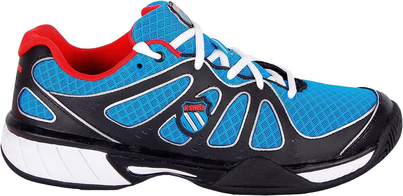 K-Swiss Express 100 Mesh Zapatillas, Hombre, Negro/Azul/Rojo, 39.5 ...
