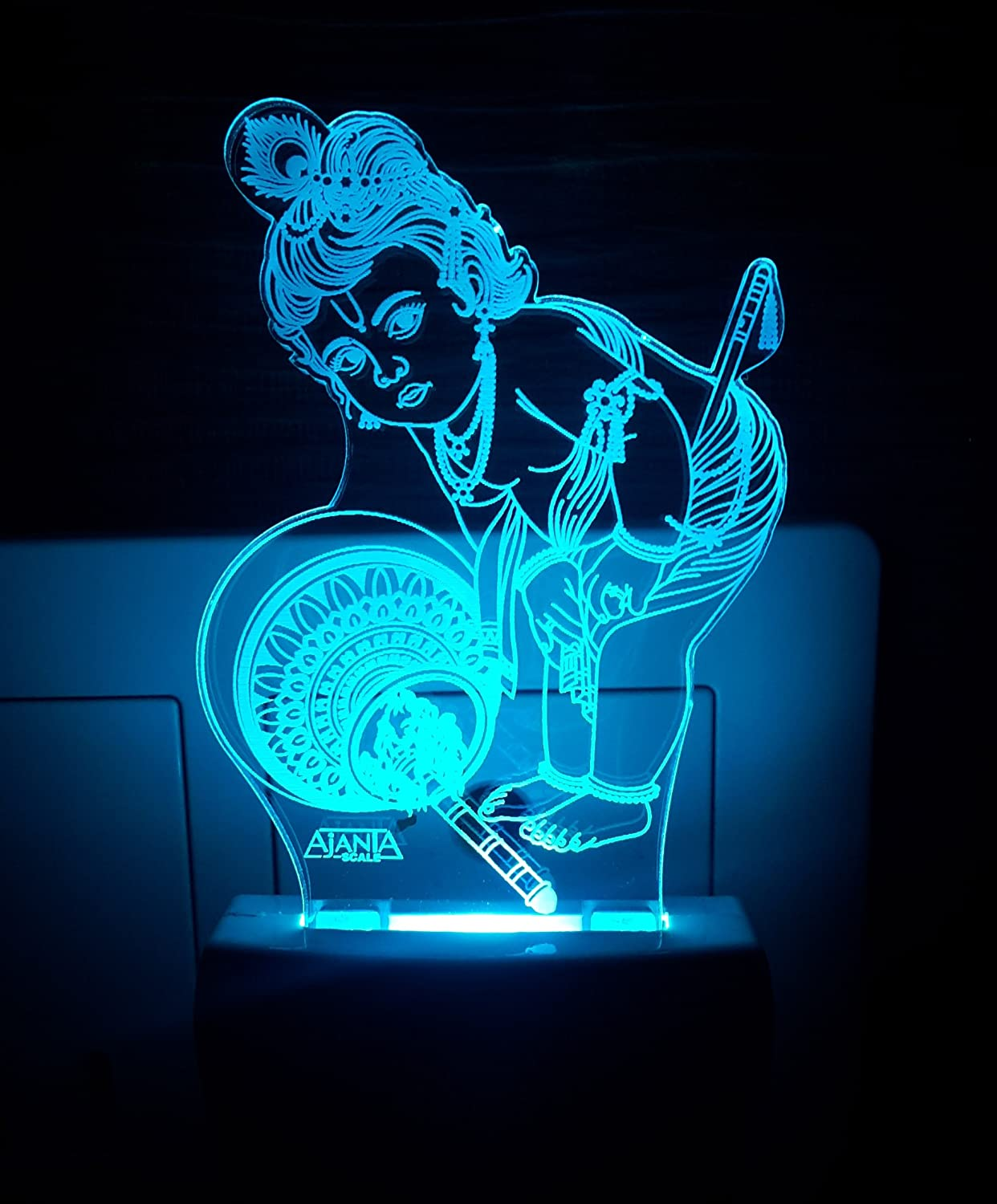 Buy aeon metal sticker 3d lord krishna plastic night lamp multicolour online at low prices in india amazon in