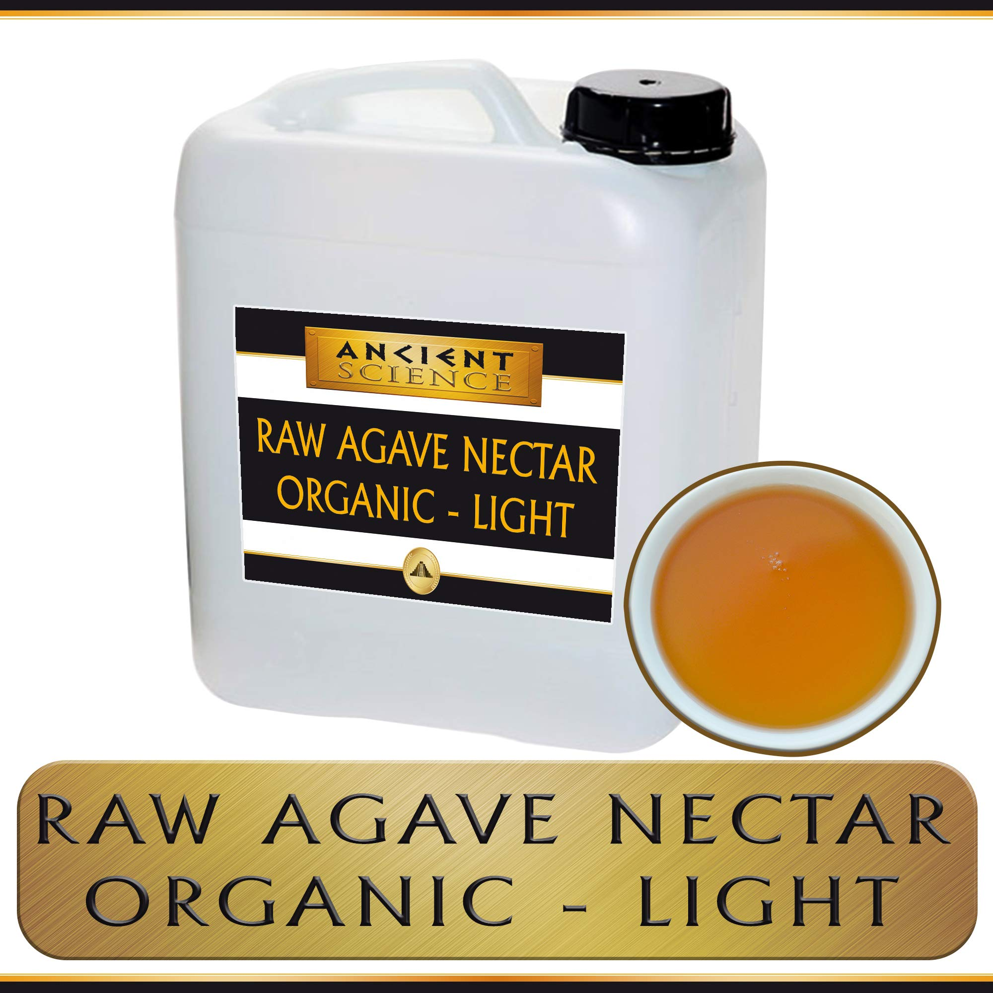 Bulk Raw Agave Nectar Organic - LIGHT - 5 Gallon Wholesale Supplier - Kosher