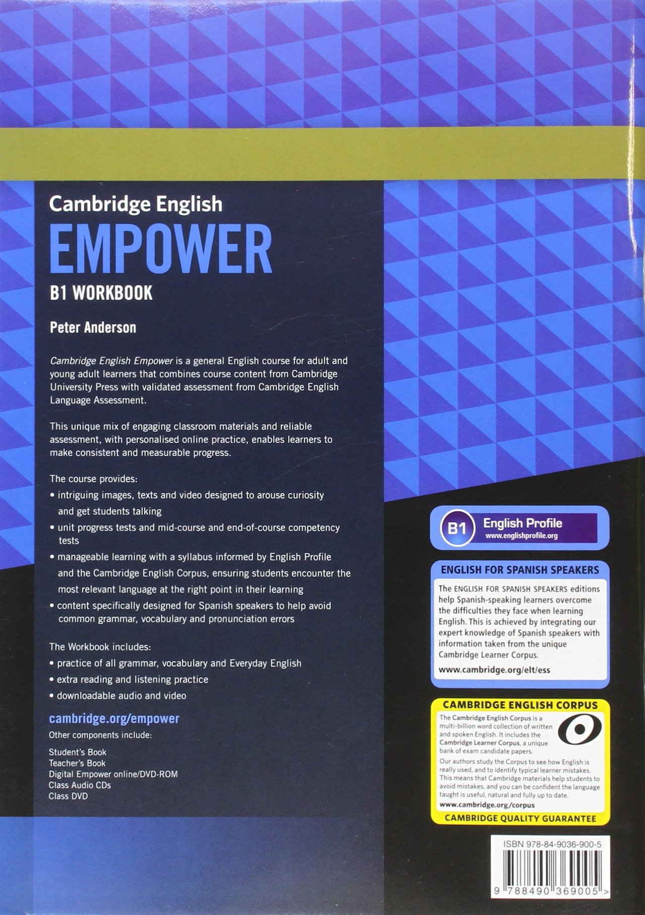 Cambridge English Empower for Spanish Speakers B1 Workbook with Answers, with Downloadable Audio and Video: Amazon.es: Anderson,Peter: Libros en idiomas extranjeros