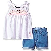 U.S. Polo Assn. Conjunto de Playera y pantalón Corto para niña