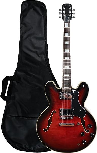 YMC Memphis Jazz Semi hueca cuerpo Cutaway Guitarra eléctrica ...