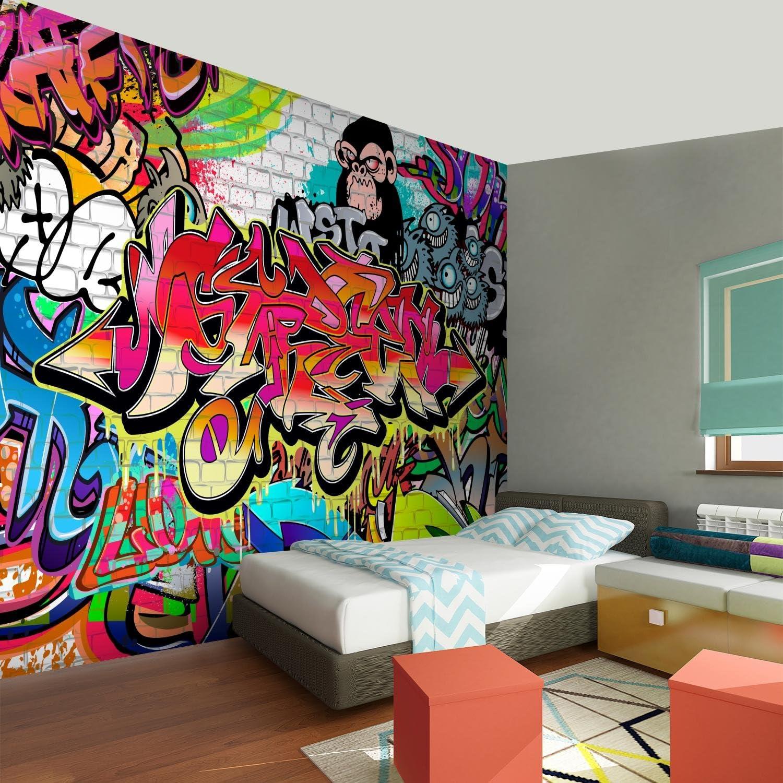 Fototapeten Graffiti Streetart 352 x 250 cm Vlies Wand Tapete Wohnzimmer Schlafzimmer B/üro Flur Dekoration Wandbilder XXL Moderne Wanddeko Runa Tapeten 9065011a 100/% MADE IN GERMANY