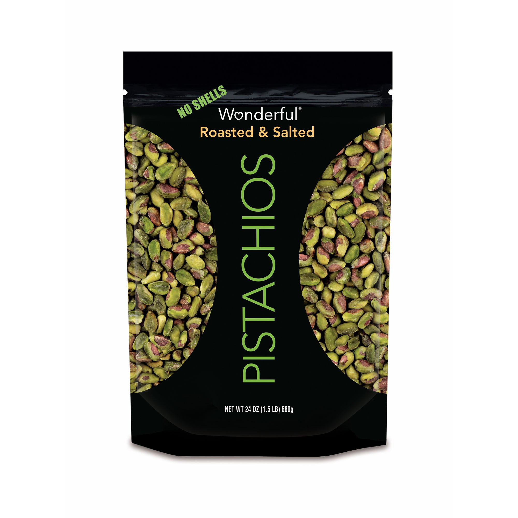 Wonderful Shelled Pistachios, 24 oz. (pack of 6)