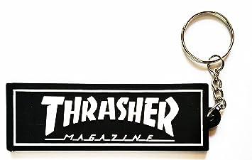 Negro Thrasher de la música rock de goma llavero clave ...