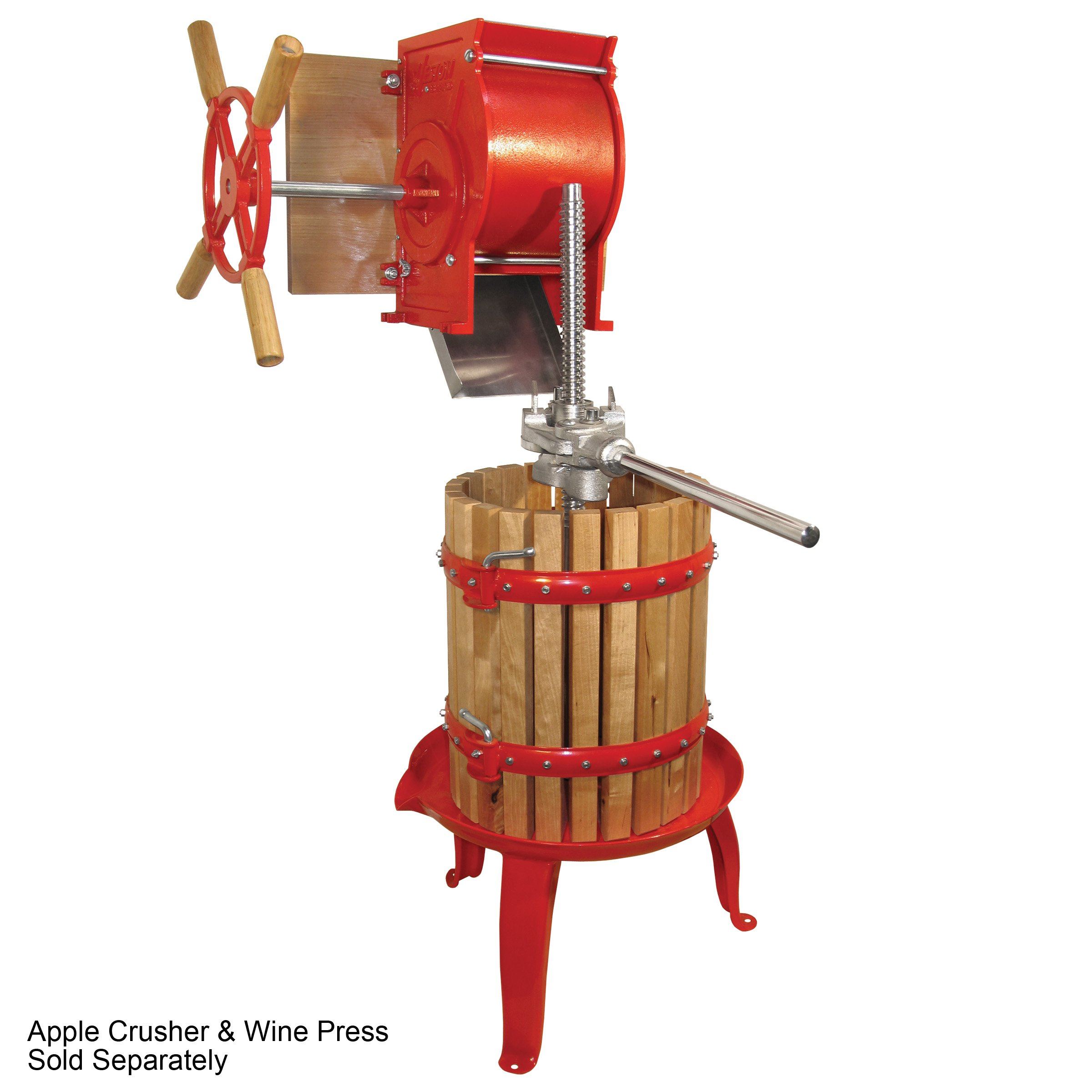 Weston Fruit and Wine Press (05-0101), 16 Quart Capacity with Pressing Blocks, Heavy Duty by Weston (Image #3)