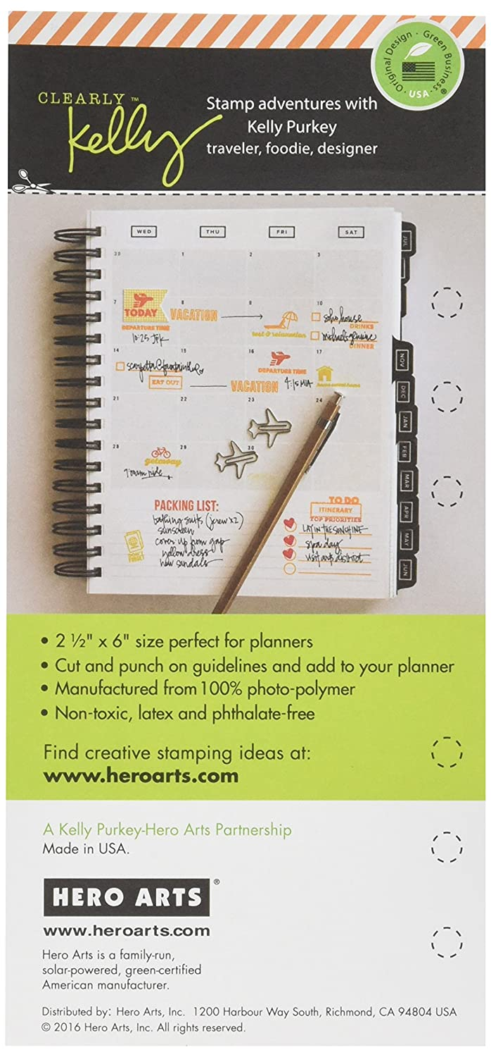 Hero Arts Clearly Kellys Arts /& Crafts Planner