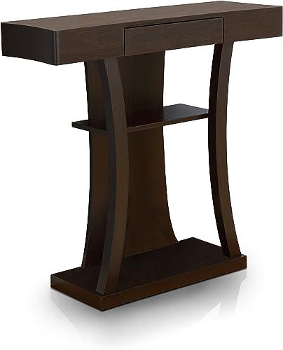 ACME Glancio Console Table – – Antique Oak Teal