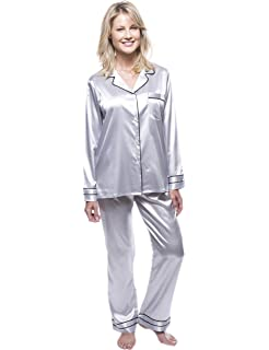 Noble Mount Womens Classic Satin Pajama Set