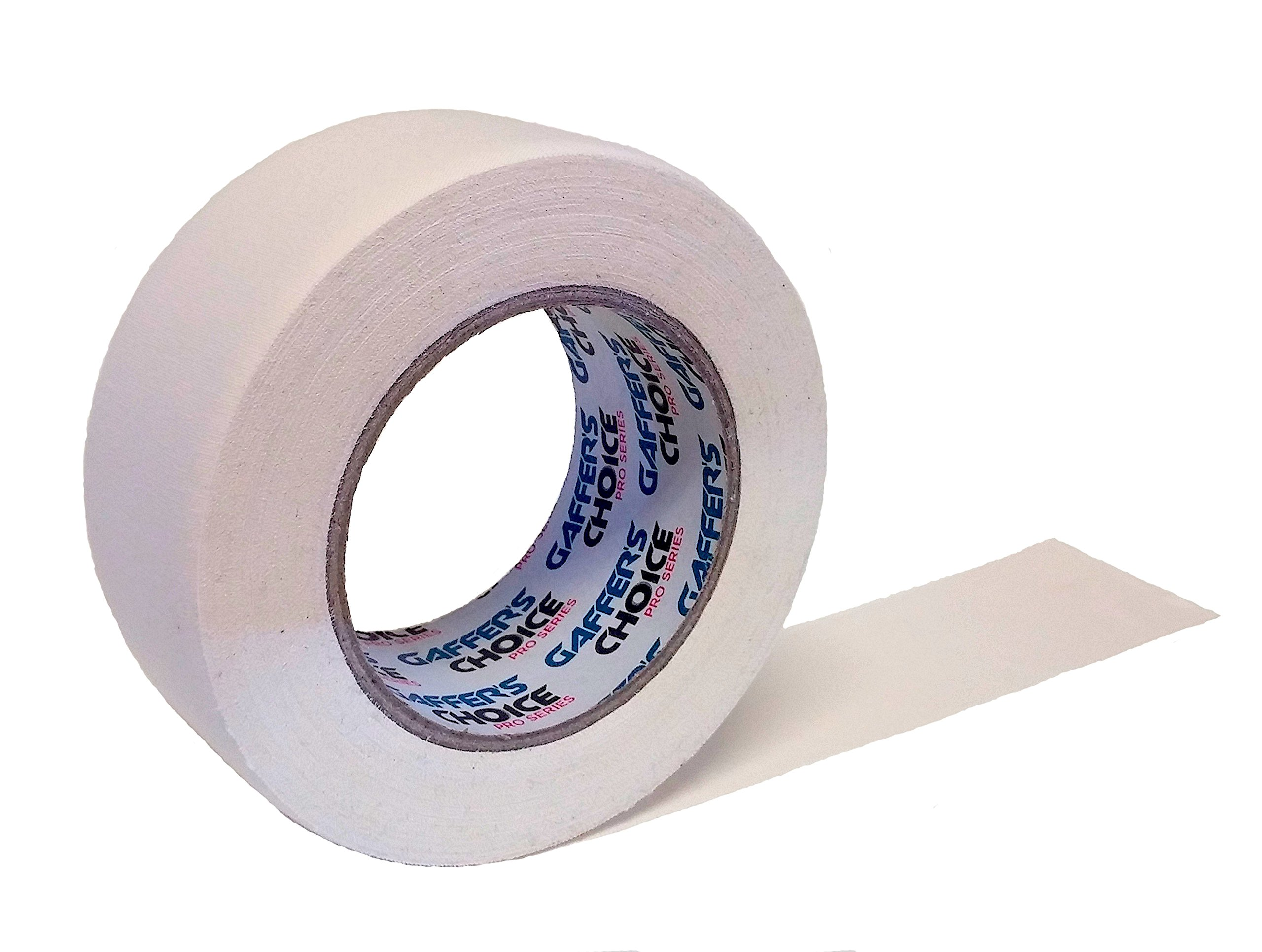 Gaffer Tape 2 inch x 35 yard White by GAFFER'S CHOICE - BONUS 5 YARDS - Adhesive Is Safe & Waterproof - Non-Reflective Multipurpose Gaffer Tape
