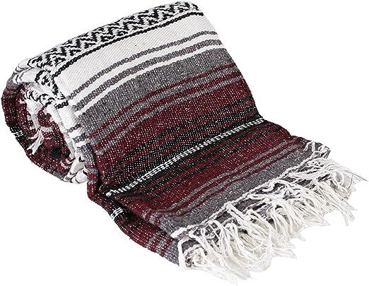 Canyon Creek Mexican Style Falsa Yoga Blanket (Burgundy)
