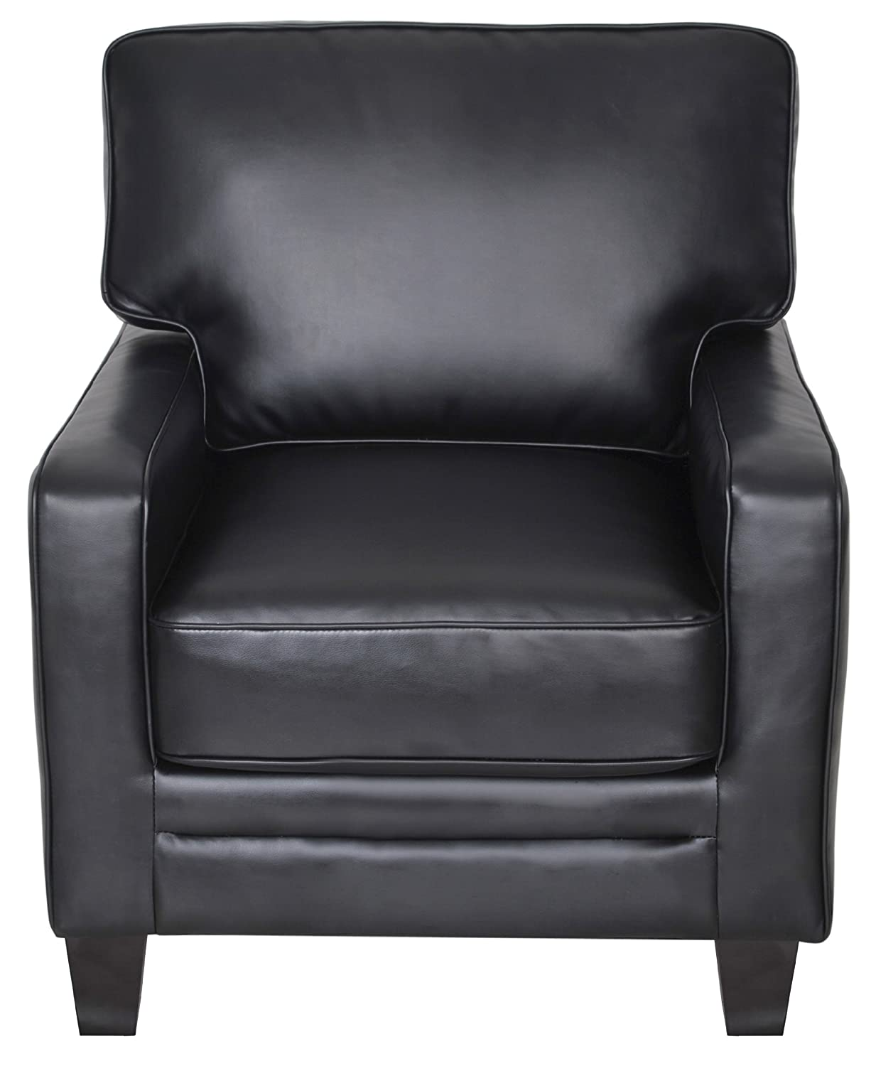 Amazon.com: Serta Santa Rosa Collection Accent Chair, Black Leather,  CR44106: Kitchen U0026 Dining