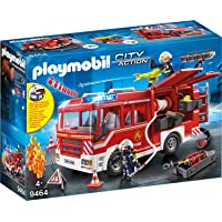 Playmobil Playmobil-9464 City Action Camión de Bomberos Color Gris, Rojo (9464