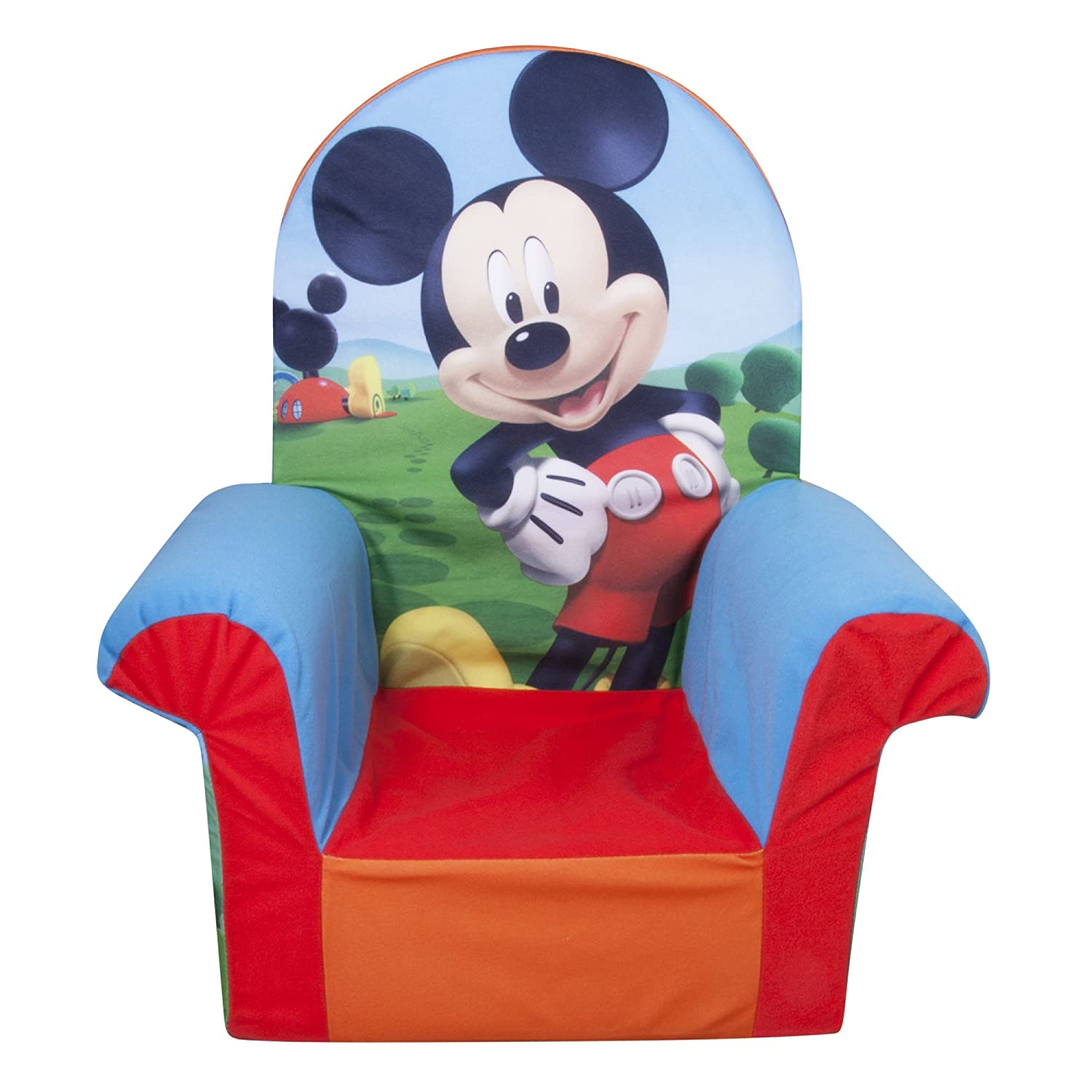 Marshmallow Furniture, Children's Upholstered High Back Chair, Disney Mickey Mouse Clubhouse, by Spin Master 6021858