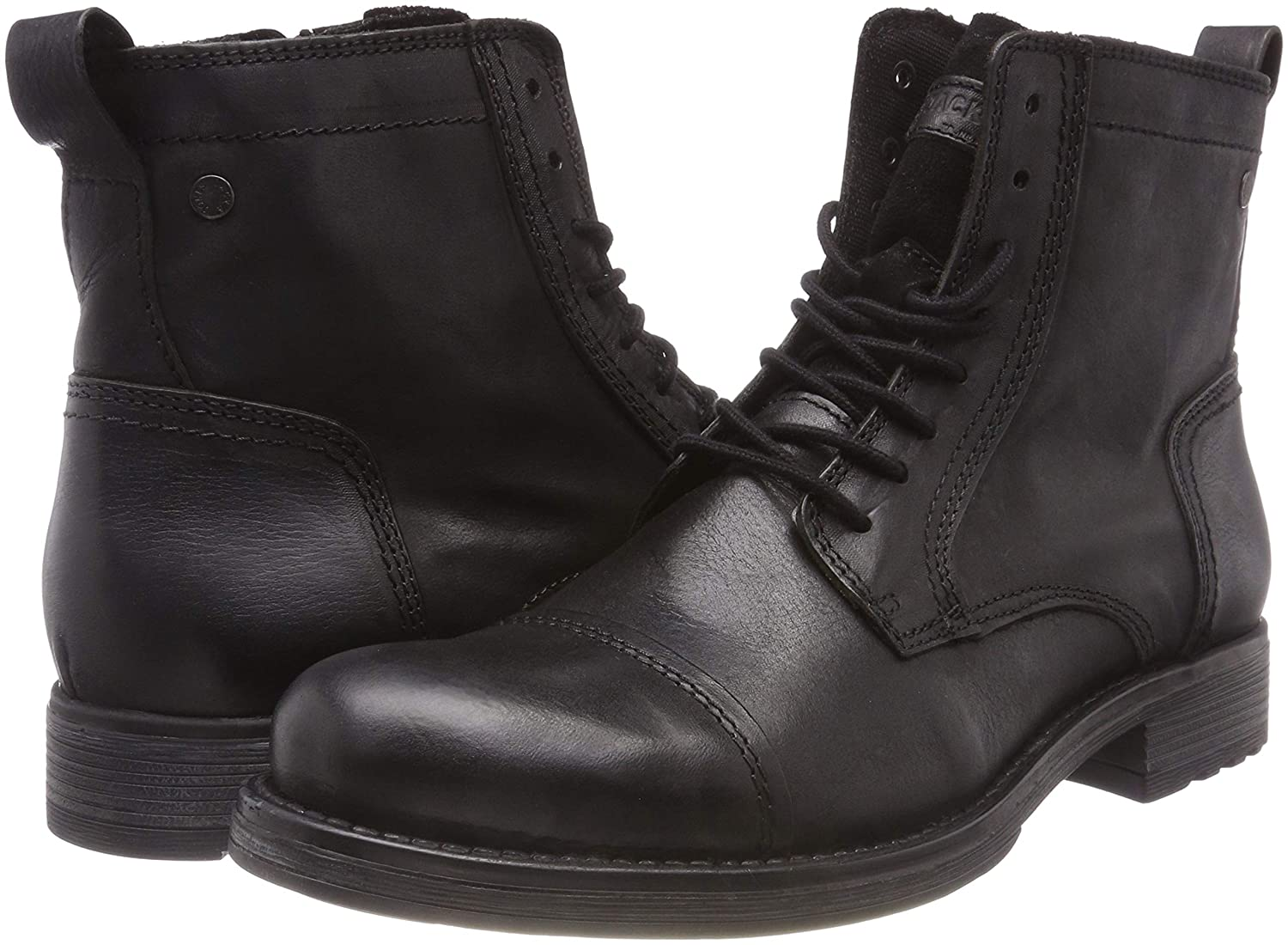Jack & Jones Jones Jones Jfwrussel Leather Anthracite Pre, Stivali Classici Uomo be4f1d