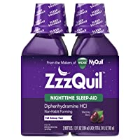 Deals on 2-Pack ZzzQuil Nighttime Sleep Aid Liquid 12-Oz Warming Berry