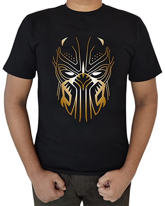 The American Fashion Black Panther Erik Killmonger Mask Necklace Logo T Shirt