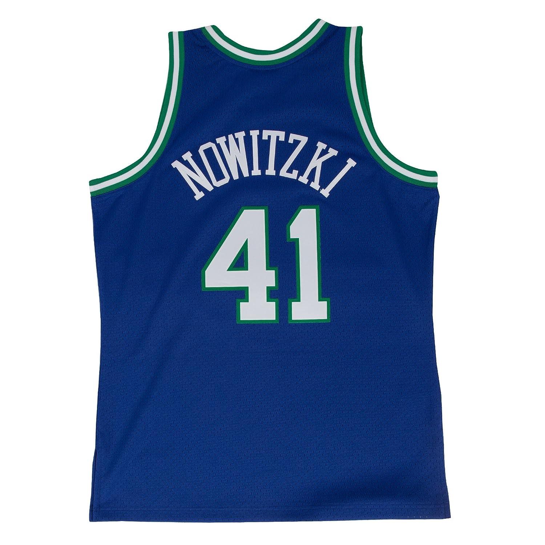 a240676b80 Amazon.com   Mitchell   Ness Dirk Nowitzki 1998-99 Dallas Mavericks Blue  HWC Swingman Jersey   Sports   Outdoors