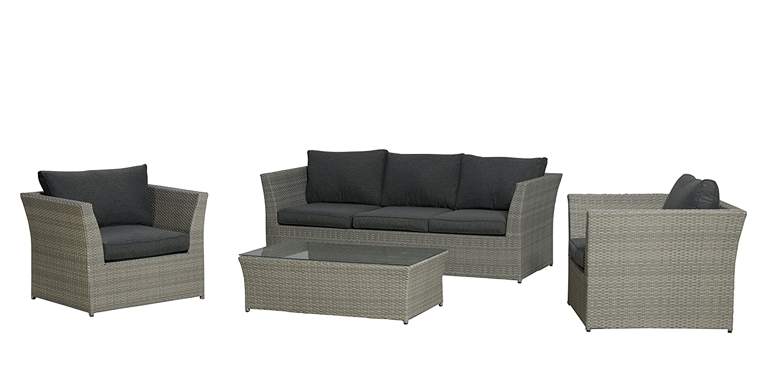 garden impressions lounge set hallet twisted grey 4 teilig g nstig online kaufen. Black Bedroom Furniture Sets. Home Design Ideas
