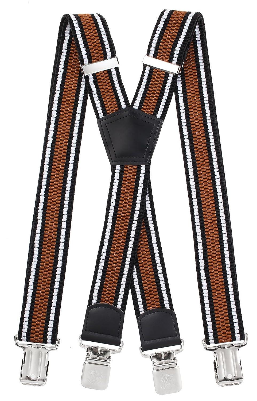 Miobo Damen Hosenträger Einheitsgröße Black (Striped Style)