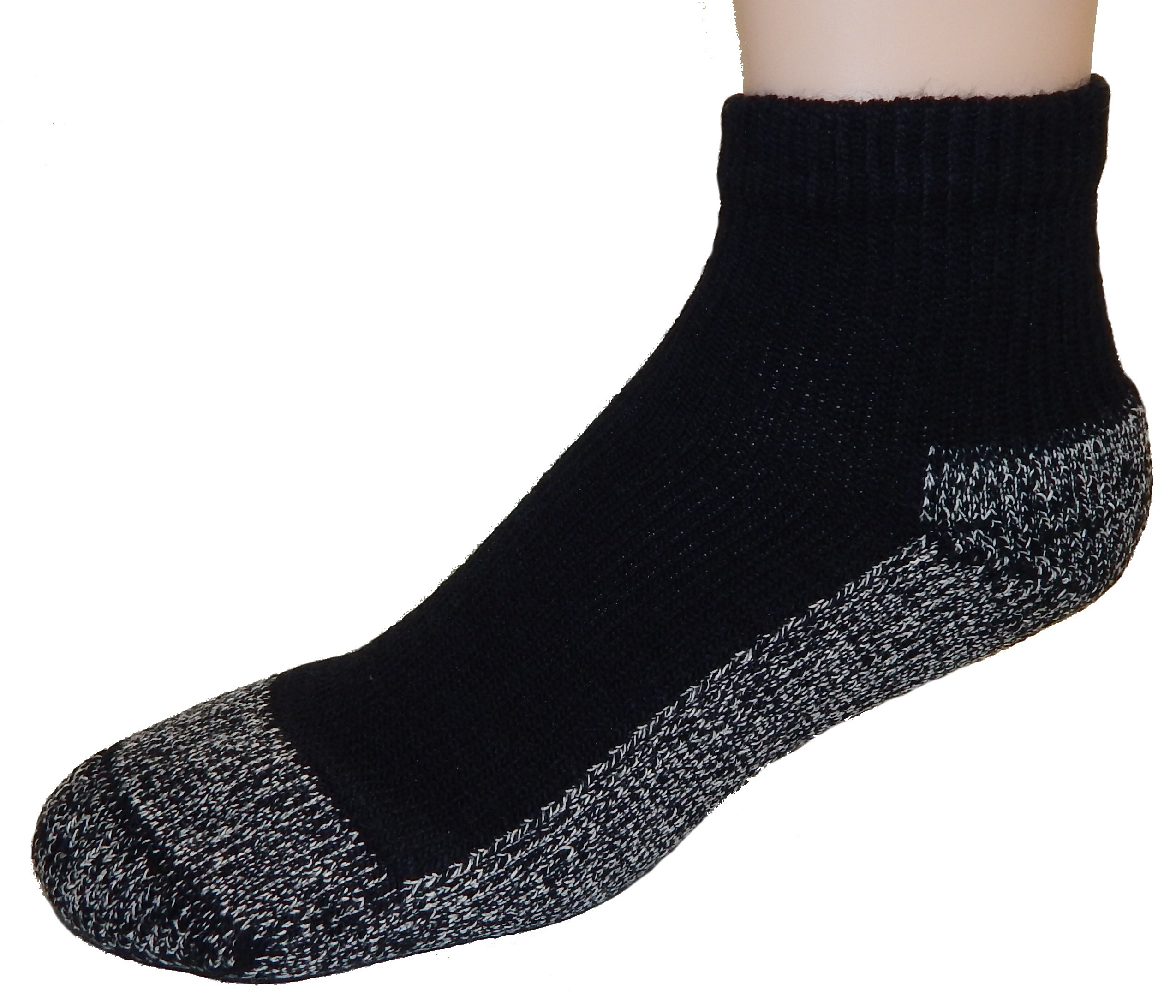 Cushees BLACK Thick Ankle Socks, 3-pack [Medium (Women or Youth large 167)] by Cushees