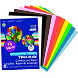 Pacon Tru-Ray Construction Paper, 9-Inches by 12-Inches, 50-Count, Assorted (103031)