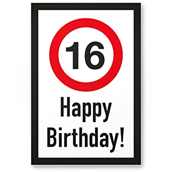 Geburtstagskarte 16 geburtstag