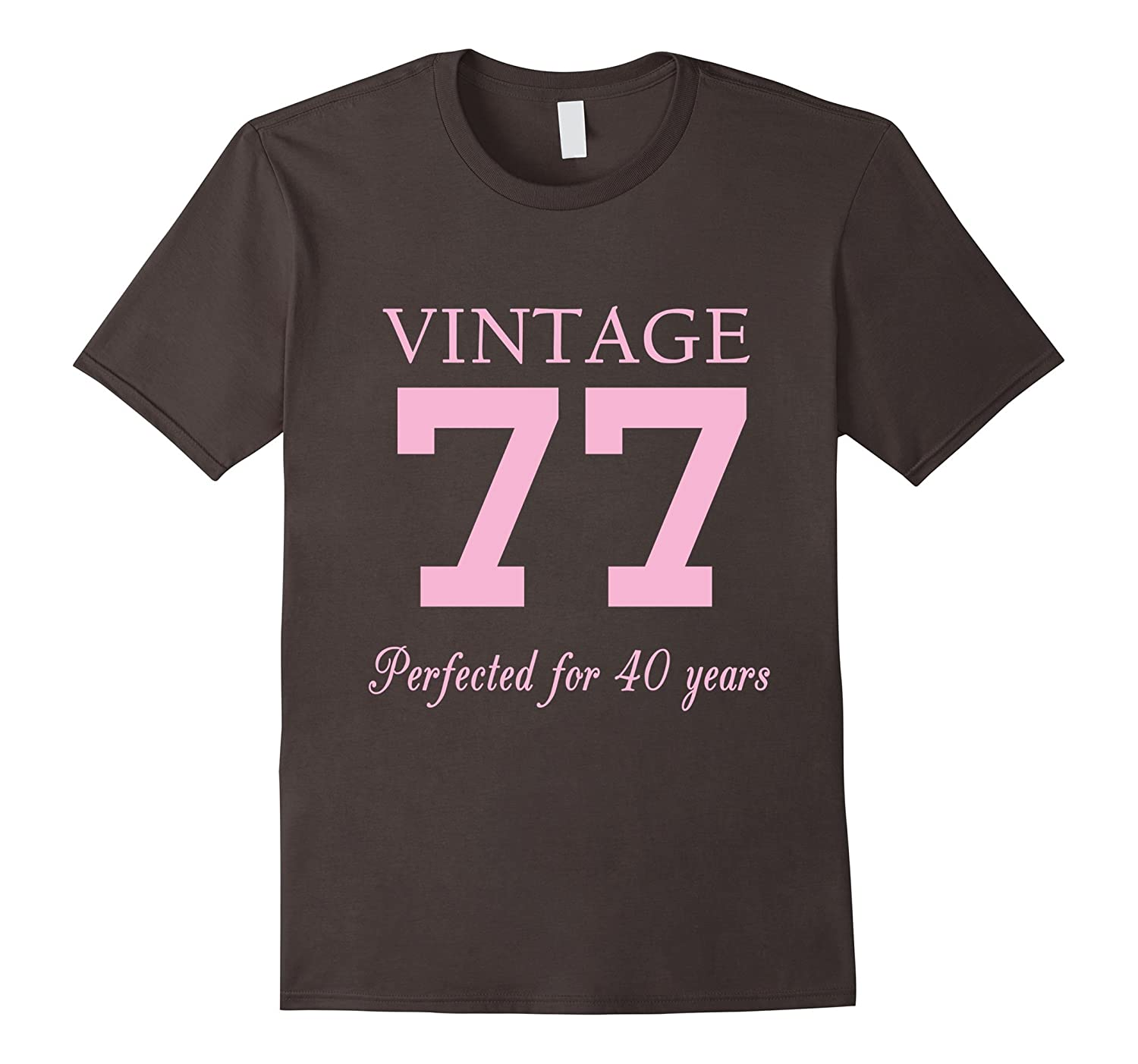 Vintage 77 40 Years Old Birthday Gift For Women Pl