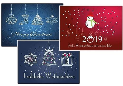 Cartoline Di Auguri Di Natale.Set Di Biglietti Natalizi Biglietti Di Auguri Di Natale Cartolina