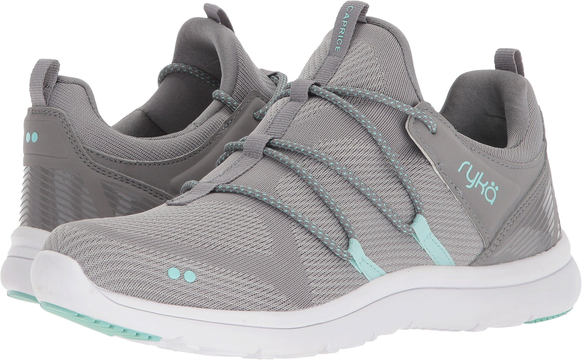 Ryka Women's Caprice, Frost Grey/Yucca Mint/Chrome Silver, 11 B