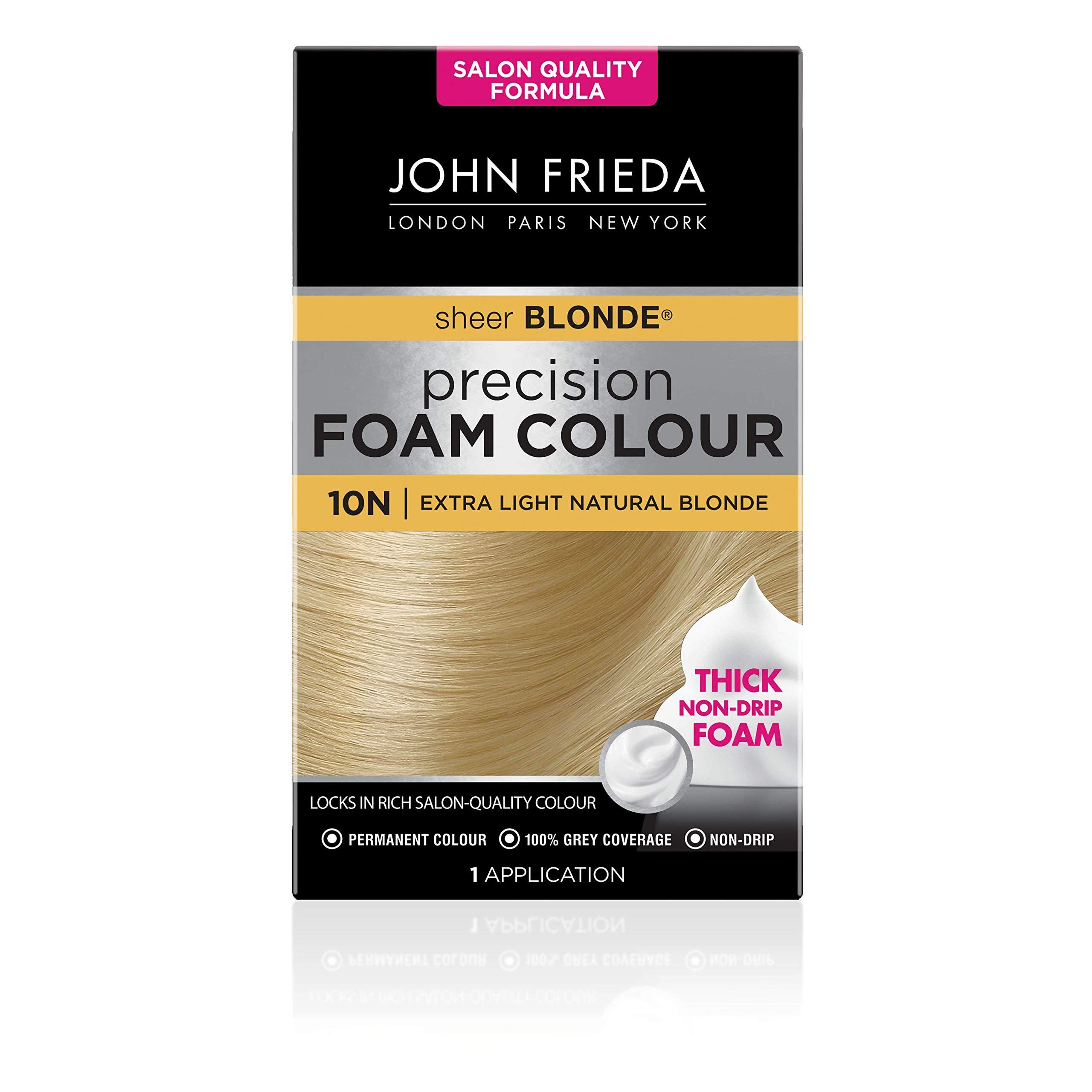 John Frieda Precision Foam Colour Permanent Hair Dye, Number 10N, Extra Light Natural Blonde