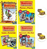 Mixed Bohnanza Card Game Bundle of Base Game and Three Expansions Plus Two Treasure Chest Buttons
