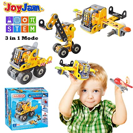 Amazon Com Boys Toys Age 4 8 Joyjam Building Toys 3 In 1 Building