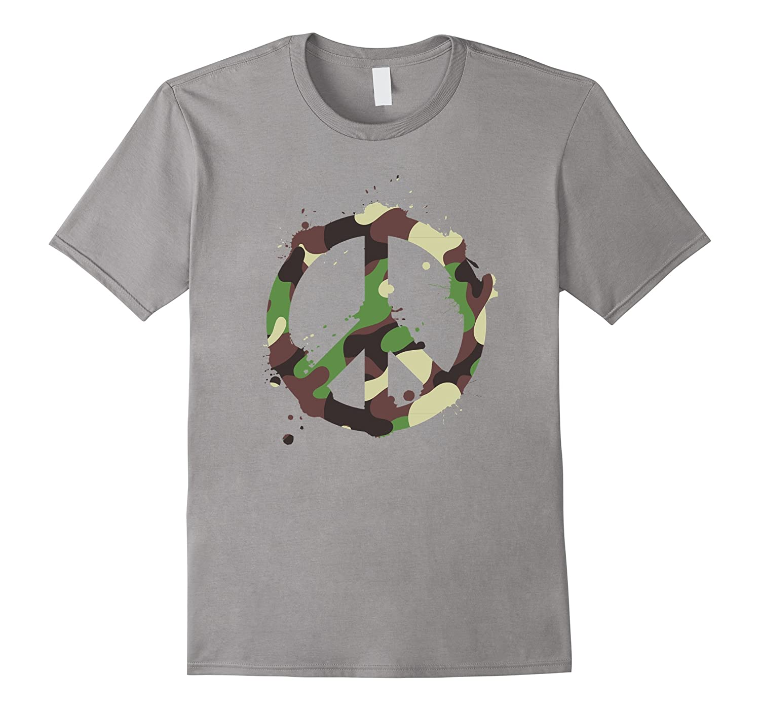 Peace symbol camouflage t shirt design goatstee for Camouflage t shirt design