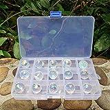 Chengmu 20mm Crystal Glass Ball 15pcs Chandelier Prisms Pendants Parts Beads Rainbow Maker Garden Suncatcher for Windows…