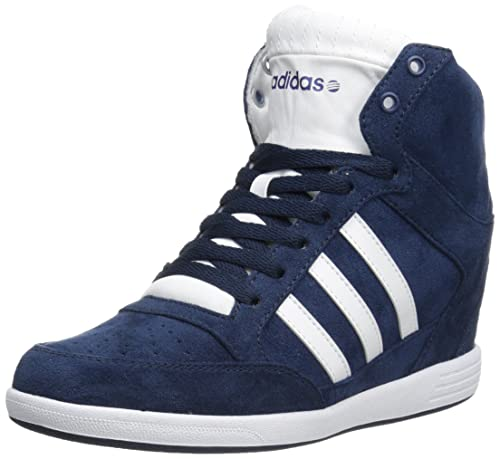 the latest 6952f 57880 Adidas NEO Women s Super Wedge W High-Top Fashion Sneaker, Collegiate Navy  White