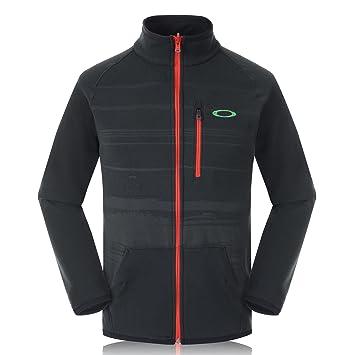 Oakley hombres de bienes chaqueta de forro polar, hombre, color negro azabache, tamaño large: Amazon.es: Deportes y aire libre