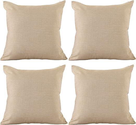Amazon Com Deconovo Soft Blank Pillow Cases Faux Linen Pillow