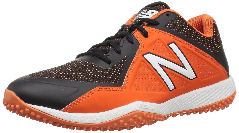 Black orange 12 D(M) US New Balance Men's T4040v4 Turf shoes