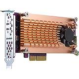 QNAP QM2-2P-244A Dual M.2 22110/2280 Pcie SSD Expansion Card (PCIe Gen2 X4), Low-Profile Bracket Pre-Loaded, Low-Profile Flat