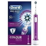 Oral-B Pro 600 Crossaction Purple Edition Spazzolino Elettrico Ricaricabile